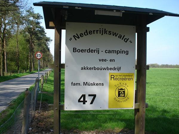 Nederrijkswald, Camping bij Nijmegen