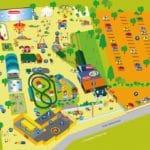 Plattegrond van Amusementspark Tivoli