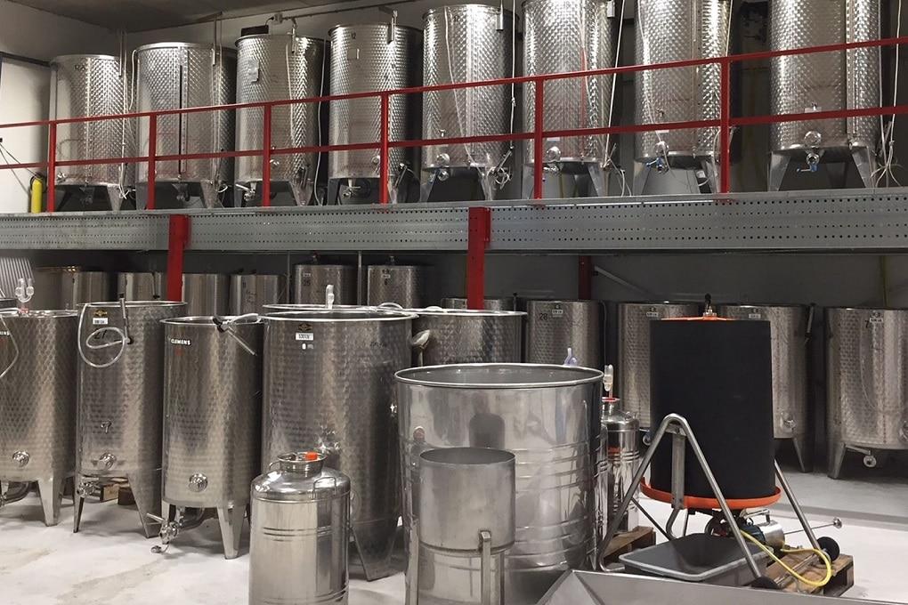 Productiefaciliteit van de Colonjes in het Nederlands Wijnbouwcentrum