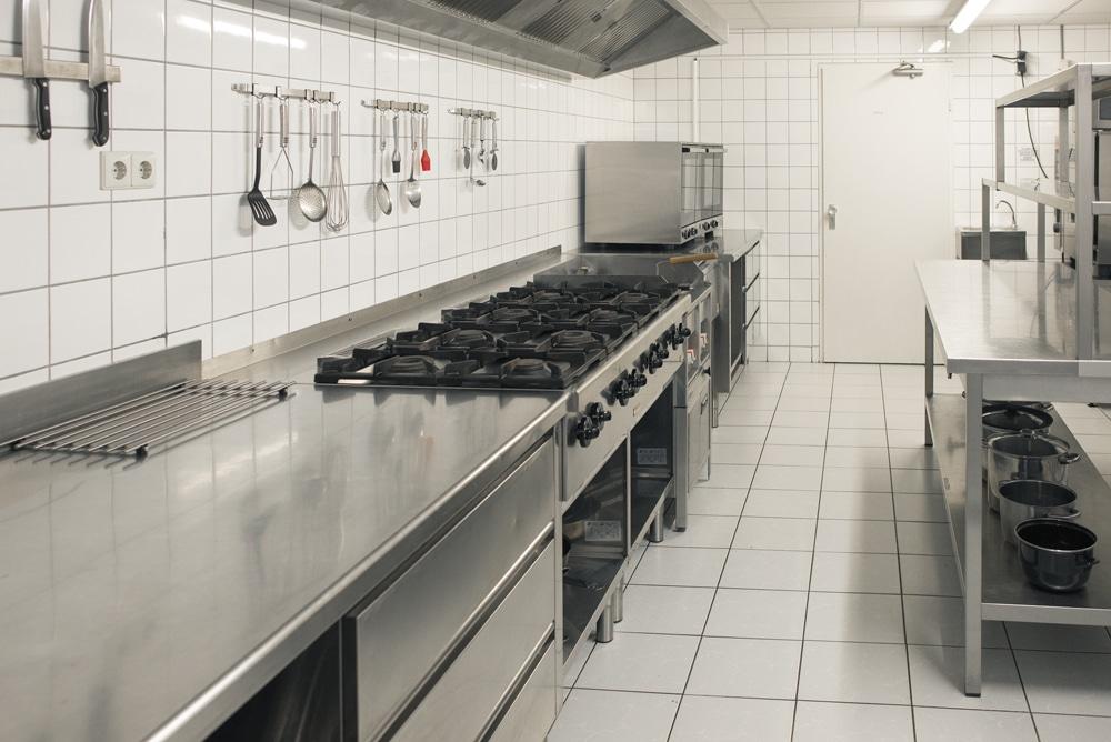Professionele keuken, groepsaccommodatie Seven Hills, Groesbeek