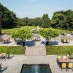 Terras van Hotel Holthurnsche Hof nabij Nijmegen