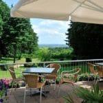 Uitzicht naar de Ooijpolder bij Nijmegen vanuit Parkhotel Val Monte