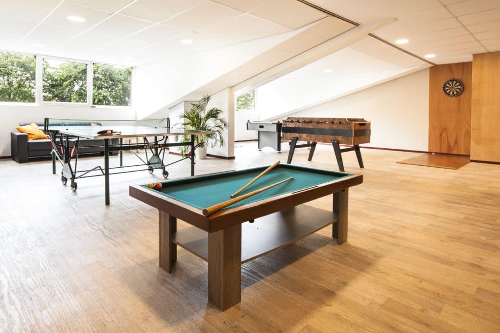 Unieke sport & spel zolder bij Groepsaccommodatie Op de Horst